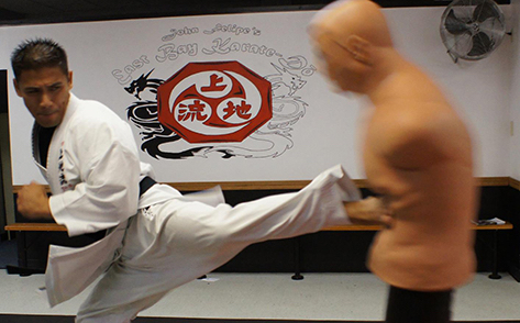 Sensei John Felipe doing Back Kick